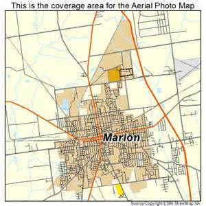 aerial photography map of marion oh ohio