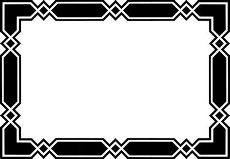 frame design black and white black and white borders clipartion com