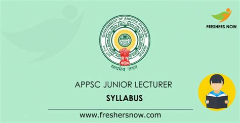 appsc junior lecturer syllabus  exam pattern