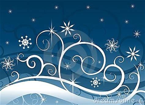 blue winter wonderland snowflakes stock image image