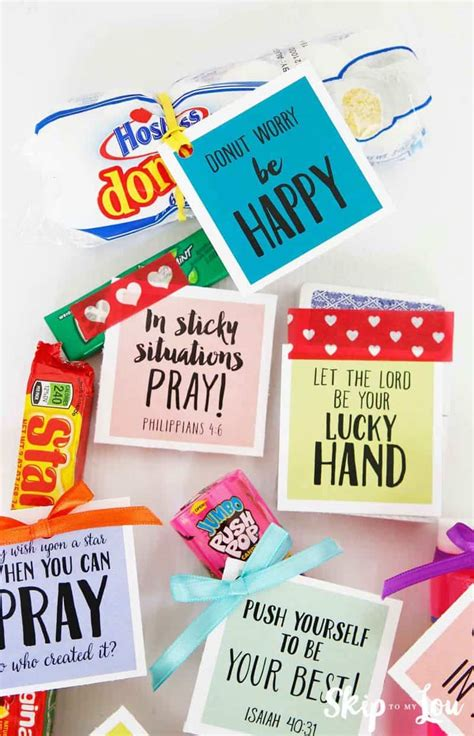 summer camp care package idea  printable tags skip   lou