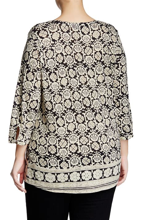 Blouse Branded Mb Brocade Purple lucky brand block floral blouse plus size nordstrom rack