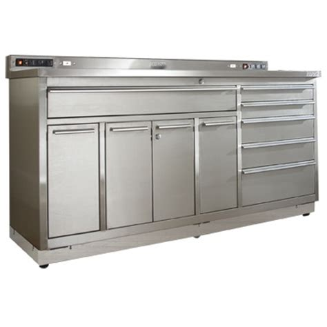 Stainless Steel Workbench With Drawers by Lovely Garage Workstation 4 Stainless Steel Garage