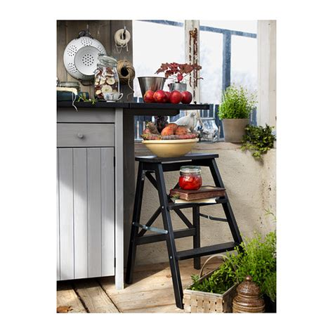 Ikea Bekvam Step Stool Hitam ikea bekvam step stool stepladder 3 steps kitchen trolley strong sturdy ladder ebay