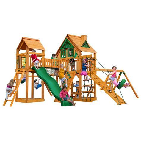 pioneer peak swing set gorilla playsets pioneer peak treehouse swing set with