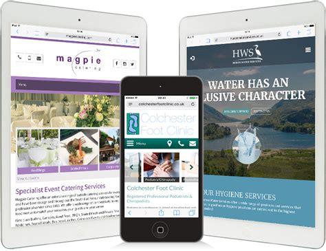 mobile web design colchester footsteps design ltd