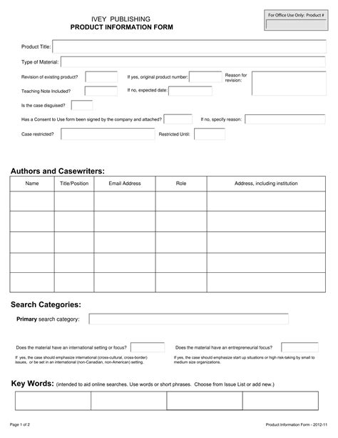 product information form template 13 product information forms free word pdf format