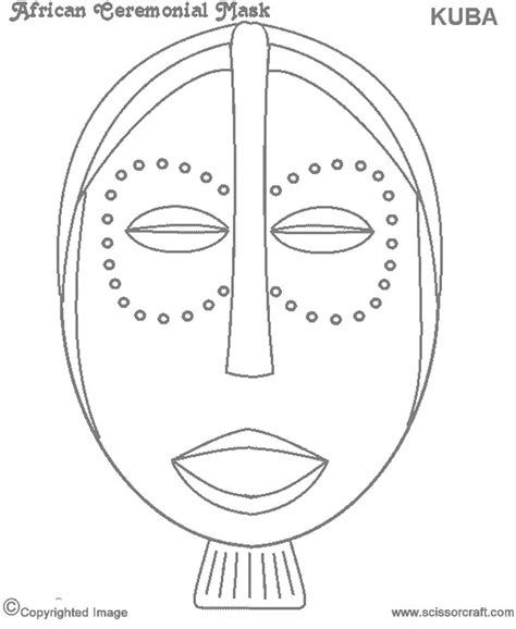 printable african mask template 8 best african masks template images on pinterest