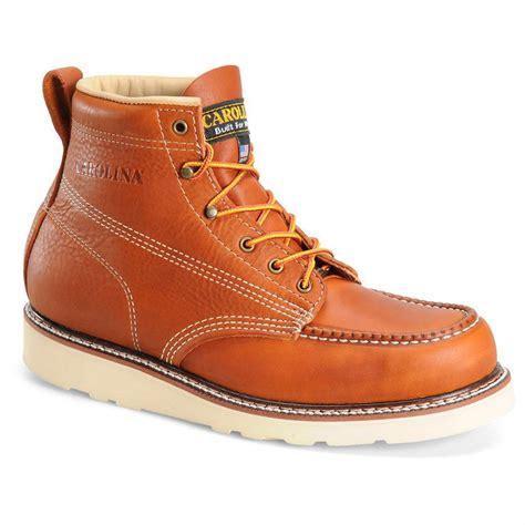 s carolina 6 quot steel toe moc toe wedge work boots