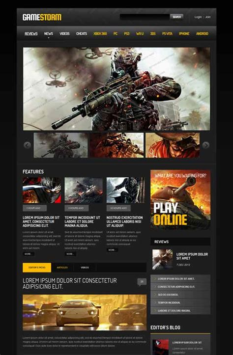 33 Amazing Gaming Website Templates Free Premium Wpfreeware Gaming Website Template Html5 Free