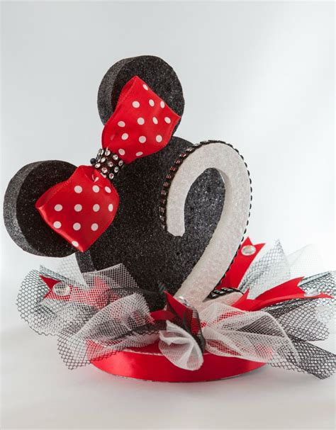 Topper Cake Minnie Mouse polka dot cake topper mouse ears cake topper