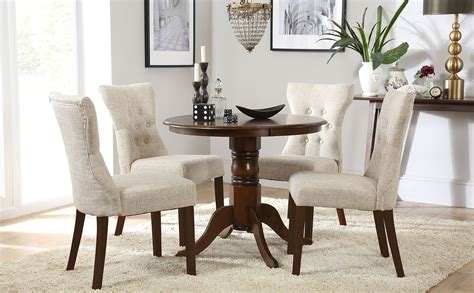 kingston  dark wood dining table   bewley