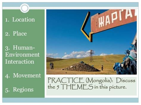 5 themes of geography mongolia the five themes of geography