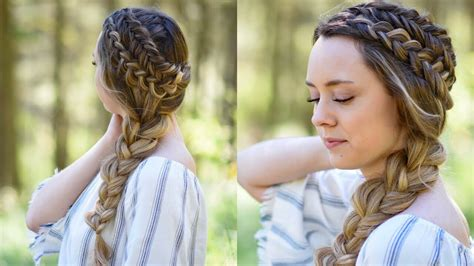 Dutch Braid Back To School Hairstyles | double dutch side braid diy back to school hairstyle