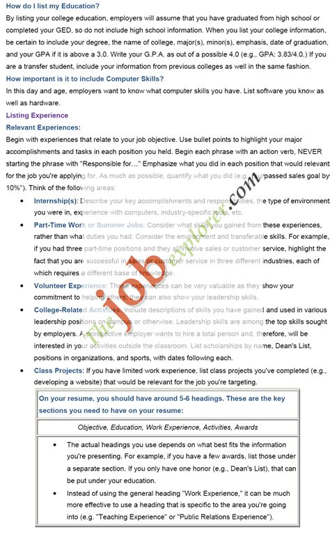 how to create a resume 7 how to make a resume for a application