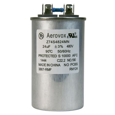 aerovox hid capacitors hid lighting capacitor 480vac aerovox z74s4824mn