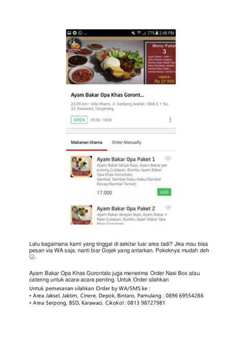 Ayam Bakar Bumbu Kecap Depok Jakarta 05 order go food ayam bakar khas gorontalo ayam bakar