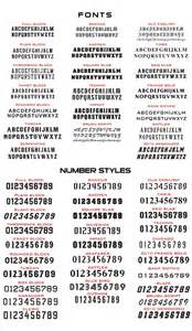 11 number font styles images jersey number font styles