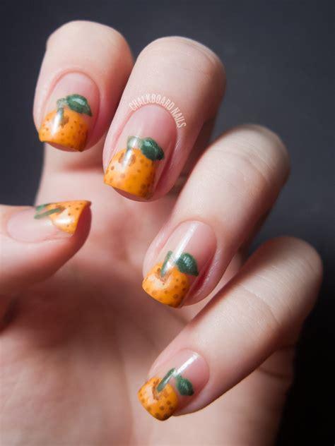 fotos de uñas pintadas lisas u 241 as pintadas de naranja