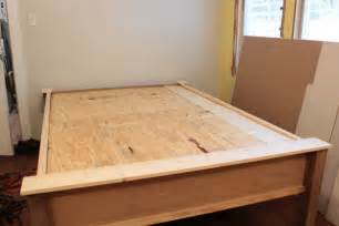 Wood Bed Frame Assembly How To Make A Wood Bed Frame