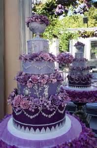 Fancy Cakes Fancy Purple Wedding Cake With Purple Flowers Arabia