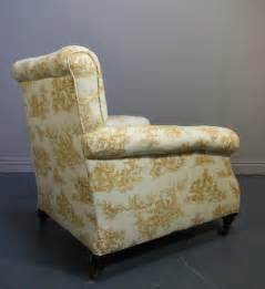 antique upholstered armchair in toile de jouy antiques atlas