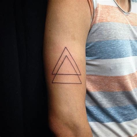 triangle tattoo on arm meaning 40 triangle tattoos tattoofanblog