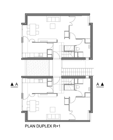 Duplex Housing Floor Plans House Design Plans