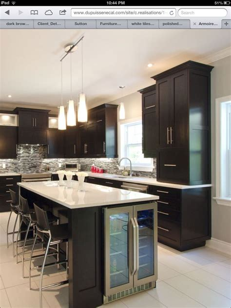 kitchen island with refrigerator wine fridge in kitchen island kitchen ideas pinterest