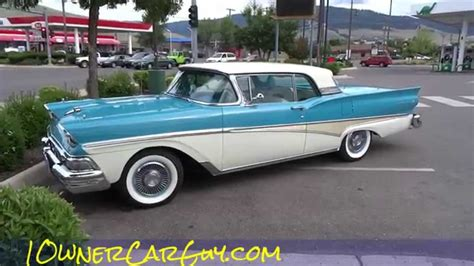 galaxy car 1958 ford fairlane 500 skyliner galaxie convertible