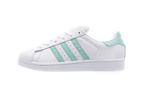 Adidas Superstar Mint Footwear White adidas originals superstar 80s mint green coral hypebae
