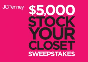 Jcpenney Sweepstakes - jcpenney quot 5 000 stock your closet quot sweepstakes iwg win a 5 000 jcpenney gift card