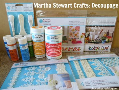 Martha Stewart Decoupage - update a tote bag with martha stewart decoupage