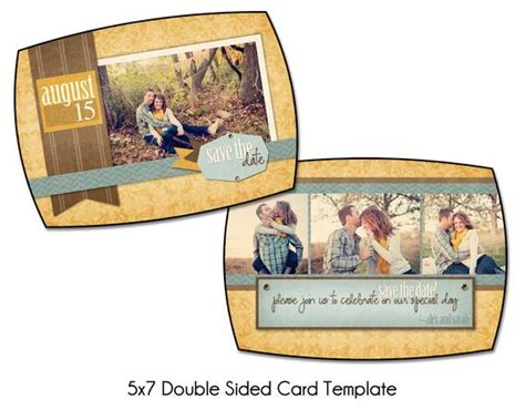 Rustic Romance 5x7 Double Sided Save The Date Card Sided Postcard Template Photoshop