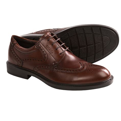 oxford shoes ecco atlanta wingtip oxford shoes for in cognac