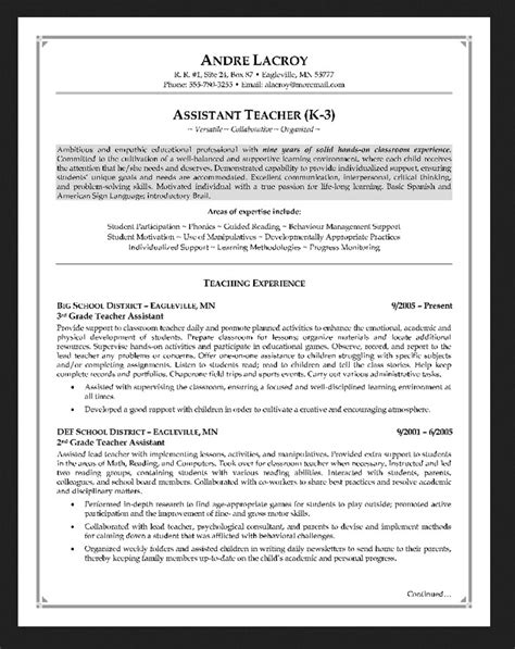 free download teacher assistant resume resumes design