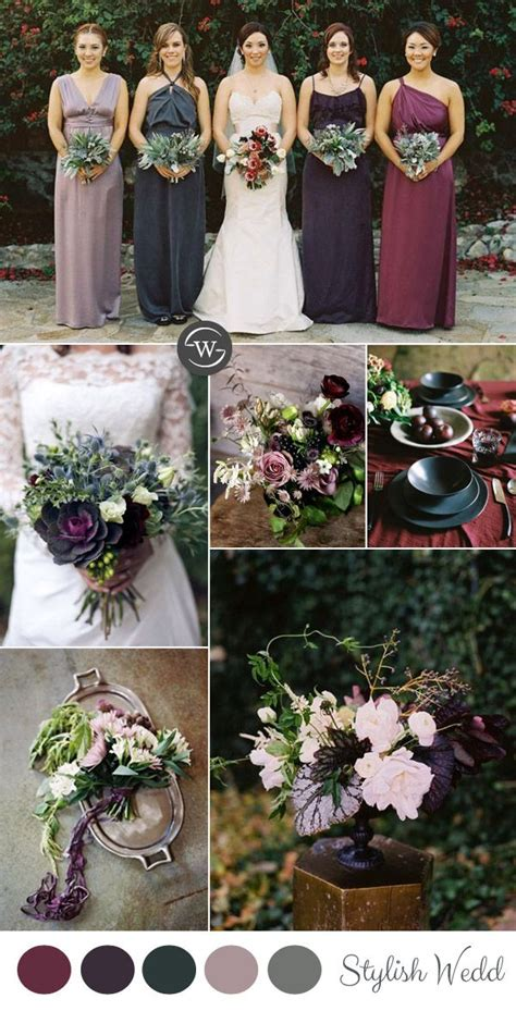 Fall 2008 Trend Gray And Purple by Wedding Trends 10 Fantastic Burgundy Color Combos For