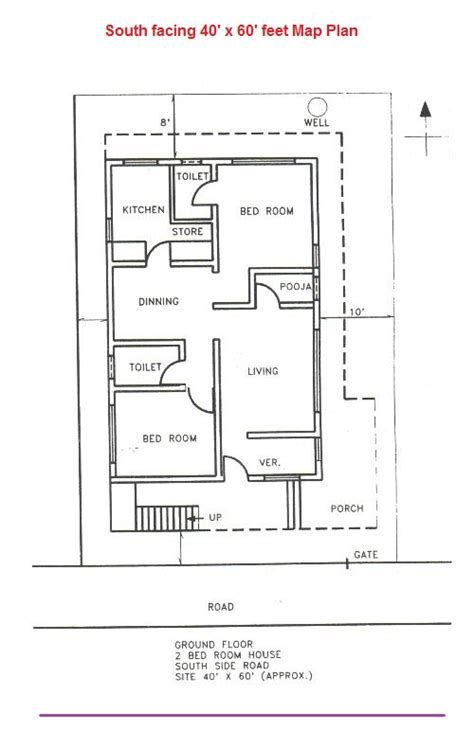 house plan for south facing plot with two bedrooms south facing vastu house plans quotes