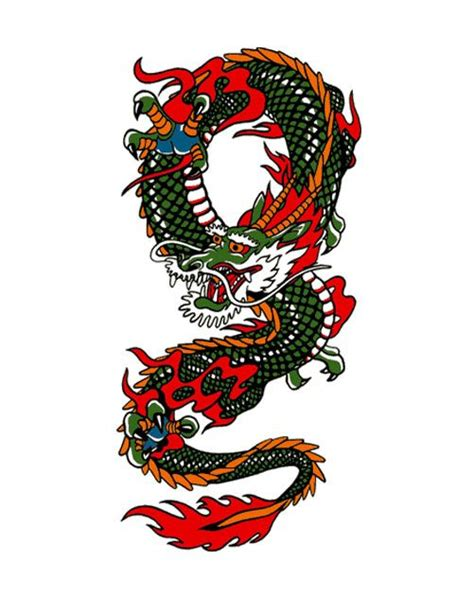 chinese dragon and tiger tattoo designs colorful search tatoo