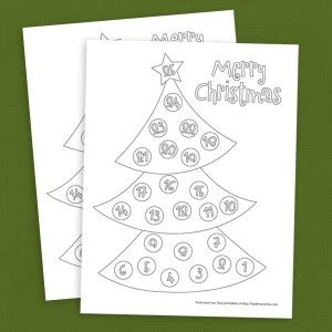 christmas tree countdown coloring page free christmas tree countdown coloring page
