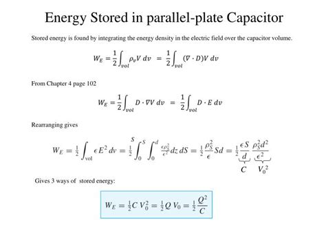 energy stored in capacitor is given by ppt capacitance and laplace s equation powerpoint presentation id 2182520