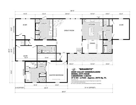 deer valley mobile home floor plans dvt 7204b quot the briarritz quot deer valley homebuilders
