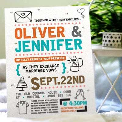 A6 Wedding Invite Template by A5 Wedding Invitations