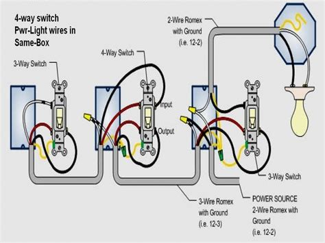 4 way switch wiring diagram light middle for alluring diagrams
