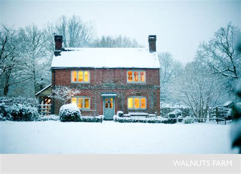 house in the snow nick bella the new homesteader walnuts farm house