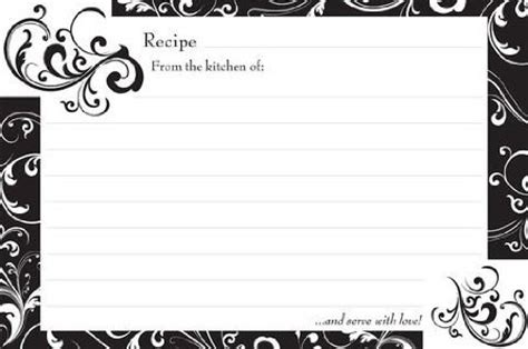 free printable recipe cards black and white kuametategeoffrey buy today black and white swirl 4 quot x 6