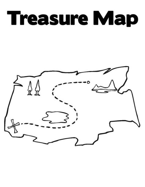 Treasure Hunt Coloring Pages treasure hunt free colouring pages