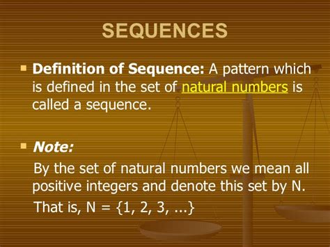 pattern sequence meaning sequences and series