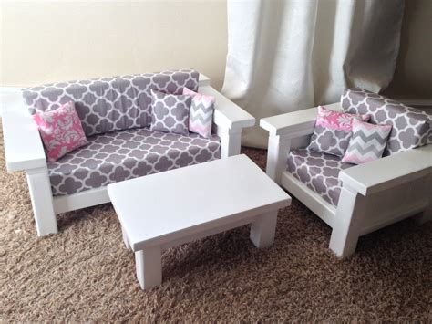 how to make a american girl doll couch american girl furniture 3 pc living room set couch chair