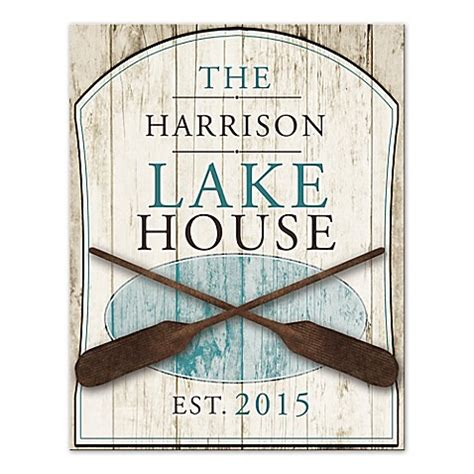 lake house wall art family lake house canvas wall art www bedbathandbeyond com